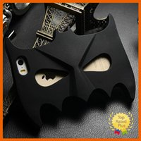 Wholesale Neoprene Mask Cover - Hot 3D Cute Batman Mask Soft Silicone Phone Case Cover for iphone 5 5S SE 6 6S Plus Samsung S5 S6 A7