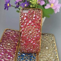 Wholesale Silver Diamond Phone Cases - New iphone6 plus durian flower sunflowers phone shell diamond Apple 6s Samsung G530 creative shell plating