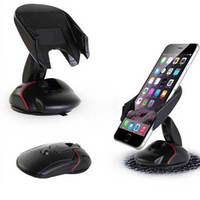 Wholesale iphone car holder cradle - Creative Dashboard Car Phone Stand Holder One Touch Mouse Suction Cup Cradle For iphone 7 6s plus