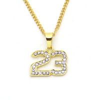 Wholesale Stainless Steel 3mm - 3mm 24inch stainless steel cuban chain Small Hip Hop Crystal Mini Pendant Necklace N518