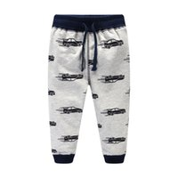 Wholesale Kids Clothes Cars - Boys pant Cool Cars Sweatpants 100%cotton Terry Casual pants Trousers for kids Draw cord Boutique Children clothing 2017 Autumn winter 2-7T