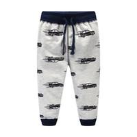 Wholesale Kids Boys Sweatpants - Boys pant Cool Cars Sweatpants 100%cotton Terry Casual pants Trousers for kids Draw cord Boutique Children clothing 2017 Autumn winter 2-7T