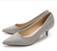 Wholesale Nude Bridesmaids Shoes - 10colors choose Sweet shoes pointy shoes work shoes Fine sexy OL in the nude leather inside light with single shoes bridesmaid wedding shoes
