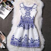 Wholesale women flower tutu - Summer New Style Europe And The United States Princess Tutu Dress Fashion Flower Skirt Big Size S-XXXL Dresses 2016 New Arrival
