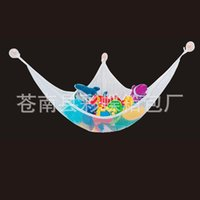 Wholesale Organize Homes - White Mesh Hammock For Children Organize Stuffed Animals Toy Hammocks Polyester Fiber Wall Hanging Home Supplies Factory Direct 13yy B