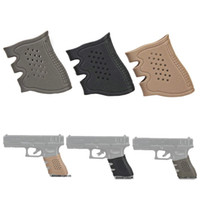 Wholesale Wholesale Glock - 10 PCS  1 lot Pistol hollow type soft Rubber Grip Glove Tactical Anti Slip Glock