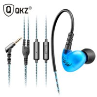 Wholesale Sport Headphone Wired - QKZ C6 Audio Sport-Fi Earphone Noise Isolating In-Ear Headphones With Memory Wire Fone De Ouvido Auriculares dj Headset 3 colors