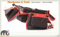 Wholesale Heavy Duty Nails - Heavy Duty Nail Canvas 12 Pockets Waist Tool Bag Scaffold w 2 Hammer Loops