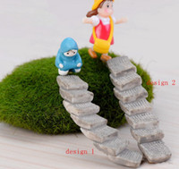 Wholesale Bend Homes - Mini straight bend step fairy garden miniatures gnomes moss terrarium artificial home decoration for home decor DIY Zakka