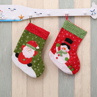 navidad chocolates santa al por mayor-Nylon Christmas Stocking Snowflake Santa Claus Snowman Home Gift Bag Kids Christmas Chocolate Candy Bag Navidad Adornos para árboles Suministros