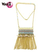 Wholesale Ethnic Fashion Jewelry China - Yokii New arrival Ethnic Style New fashion Hand made necklace Vintage Long Tassel pendant necklace female jewelry N07912 Necklaces