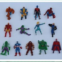 Wholesale finish clear - 2017 The Avengers Mini Action Figures Gashapon Gachapon Capsule Toys Superhero spiderman Iron captain Hot sale children Christmas Gifts