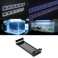 Wholesale 1pc Fish Aquarium - 2016 Hot Selling 1pc Ultra-thin beautiful Underwater Aquarium Fish Tank Fishbowl Light SMD 6W 28 CM LED Light Lamp