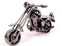 modelo de arte venda por atacado-2016 Novo Escritório Em Casa Decoração de Ferro Motocicleta Artesanal de Metal Artesanato Modelo de Arte Da Arte Presentes de Natal m34