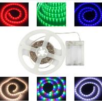 diodes tvs achat en gros de-La bande imperméable menée rgb smd 5050 allume la lumière 5V à piles alimentée par batterie de LED