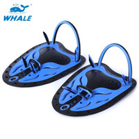 Wholesale Webbed Swimming Gloves - Unisex Swimming Fins Paired Adjustable Paddles Fins Webbed Training Pool Diving Hand Gloves Swimming Fins Hot +TB