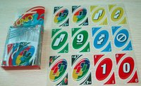 Wholesale Uno Card Game Plastic - Family Fun Party Game Transparent H2O Waterproof Plastic UNO Card the Table Game