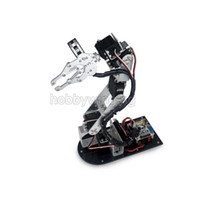 Wholesale Arduino Robot Car - 2017 new 6 DOF Robot Metal Alloy Mechanical Arm Clamp Claw Kit with digital Servos optional for Arduino Robotic Education