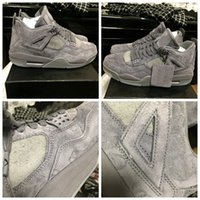 Wholesale Gears Shoes - Basketball Shoe 4 KAWS Basketball Shoes Grey Color Fashion Sports Shoes Outdoor Shoes Running Gear