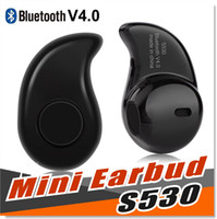 Wholesale Ear Phones Android - For iPhone 7 Plus S530 Earbud Earphone 2017 New Popular Mini Ultra small 4.0 Stereo Bluetooth Headset For iPhone Android Smart Phone