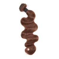 Wholesale Brown Virgin Peruvian Natural Wave - 30% off Queen Products 9A Virgin Peruvian Hair Extension Unprocessed Natural Body Wave Human Hair Weave Weft 1 Piece bundle Medium Brown