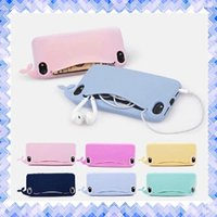 Wholesale Whale Soft Case Cover - Soft Silicone Whale Cute Cartoon Case Protective Mobile Phone Cover for iPhone 7 5 5s 6 6s Plus