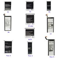 замена батареи сотового телефона оптовых-Батарея сотового телефона для Samsung s3, s4, s5, s6, s7, Note2 3 4 5, s3 s4 mini, 5830,9070,9082, Z1 2, G850,9100, BA900,7508,9150, BA800 Сменный аккумулятор