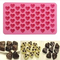 1 PCS 3D Silicona 55-Corazones Ice Cube Chocolate Pastel Cookie Chocolate Cupcake Soap Mould molde de hornear Decoración Herramientas de cocina