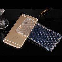 Wholesale iphone generation cases - For iphone 7 Clear Diamond Pattern Generation Airbag Anti-shock Soft TPU Case Silicone Protector Shockproof Back cover for iphone 6 6s plus