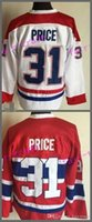 Wholesale Montreal Canadiens Cheap Hockey Jerseys - Cheap Men's Montreal Canadiens Jerseys #31 Carey Price Jersey Home Red White Stitched Ice Hockey Jerseys