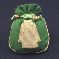 Wholesale Ethnic Craft Gift - Ethnic Craft Cotton Linen Small Gift Bags Jewellery Pouches Ring Earring Bracelet Bag Chinese Packaging Tea Candy Pouch Coin Pocket
