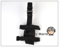 Wholesale Handgun Holster Thigh - Airsoft Tactical Army Universal Drop Leg Holster Pistol HandGun Thigh Elite Police SWAT Puttee For Hunting Right Hand Black