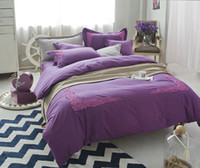 Wholesale Chinese Luxury Sheets - Wholesale- 100% egyptian 4 6pcs luxury cotton Lace bedding sets sheet set gift adult duvet cover set queen king size bed Linen
