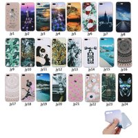 Wholesale Lenovo Cartoon Cover - For LG G6 Moto G5 Lenovo K6 Case Cartoon Transparent Silicone Shockproof Protective Cover Painted Phone Shell Retail Package (2017 Hot)