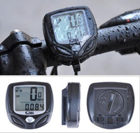 fahrradcomputer drahtlos großhandel-2016 Facotry Direkte Wasserdichte Multifunktions Schwarz Wireless LCD display Zyklus Fahrrad Fahrradcomputer Meter Tachometer Kilometerzähler