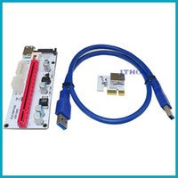 Wholesale Adapter Cable Dc Power - 60cm PCI-E Express 1X To 16X Extender Riser Card Adapter USB 3.0 LED SATA 6 Pin Power Cable DC-DC For Mining XXM8