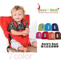 cintos de segurança de cadeira venda por atacado-Cores doces do bebê Tampa de Assento Portátil Sack'n Assento Crianças Tampa de Assento de Segurança Do Bebê Upgrate Comer Bebê Assento Da Cadeira Cinto 7 cores