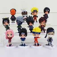 Wholesale Naruto Ninjas - 12Styles Naruto 8cm Action Figure New Sasuke Ninja Kakashi Model Toy