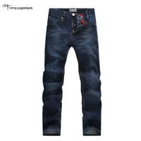 Wholesale Jeans For Large Men - Wholesale-Brand Men Plus Big Size Pants 38 40 42 44 46 48 50 52 Mens Stretch Cotton and Tall Large Trouser Jeans for Men