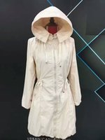 Wholesale Hoodies Uk - M217 UK Trench Women Trench Coats Spring Autumn Long Coat Outwear Clothing hot sale Hoodie clothing Windbreaker