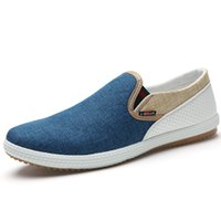 Wholesale Shoes Ultralight - 2017 Fashion Summer Men Canvas Shoes Breathable Casual Shoes Men canvas Shoes Loafers Comfortable Ultralight Lazy Shoe Flats