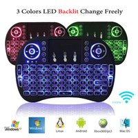 Wholesale game remote for laptop for sale - Group buy I8 Wireless Backlight Mini Keyboard Fly Air Mouse Multi Media Remote Control With Touchpad Game Handheld Controller For S905X S912 TV Box