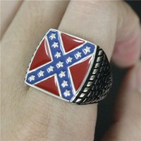 Wholesale Wholesale Fashion Jewelry Usa - 3pcs lot New Design USA Style Ring 316L Stainless Steel Fashion jewelry Biker Cool Man USA Ring