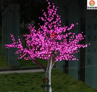 Wholesale Light Cherry Blossom Tree - LED Cherry Blossom Tree Light 1536pcs LED Bulbs 2m Height 110 220VAC Seven Colors for Option Rainproof Outdoor Usage Drop Shipping