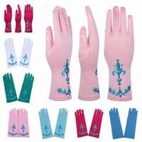 Wholesale Wholesale Snow Gloves - Full Finger Gloves for Halloween Christmas Party Snow Queen Elsa Gloves Elsa Cosplay Costume Snow Queen Anime Gloves Coronation 7 Colors