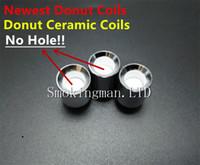 neue wachskugel großhandel-NEUE Donut Ceramic Wax Coils für Glas Globus Zerstäuber Cannons Bowling Zerstäuber Donut Coils ecigs Glas Vaporizer Donut Wachs Quarz Coils