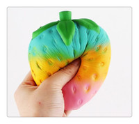 Wholesale Pretend Kitchen Food - Slow Rising Squishy Toy 2017 Kitchen Food Fruit Pretend Play Educational Jumbo Cute Strawberry Squishy Slow Rising Soft Toy