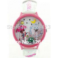 девушки смотреть таблицу оптовых-Ms Корея мини-часы мягкие керамические часы часы дети часы стол зонтик девушка студенты часы Наручные часы