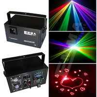 Wholesale Animation Stage Lighting - 1.5w rgb laser beam and animation ,DMX ,party light KTV light laser projector stage lights emma laser