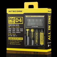 Wholesale Nitecore D4 Clone Digital charger LCD Display Battery Charger Universal Nitecore Chargers Retail Package with Charging Cable
